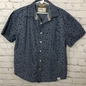 Free Planet Boys Casual Blue Button Up Shirt 8
